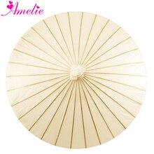 Ручная работа, Китайская традиционная бумага для рукоделия, сплошной цвет, белый, бежевый, слоновая кость, для невесты, Солнцезащитная бумага, зонтик, свадебная церемония, Декор