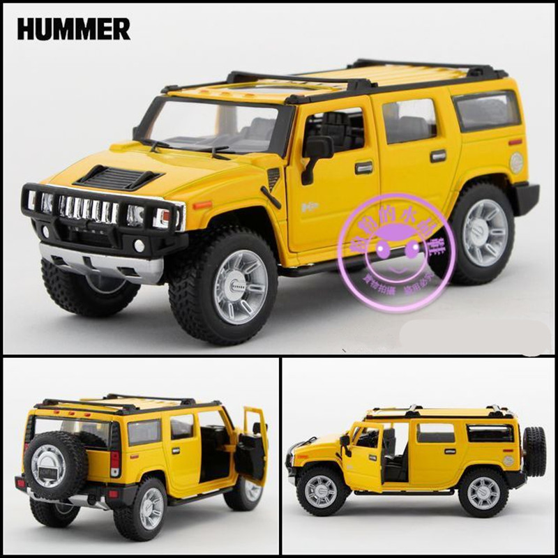 Kinsmart Diecast Metal Model/1:32 Scale/Simulation:2008 Hummer H2 SUV/Pull back toy for children's gift or collection/Limited