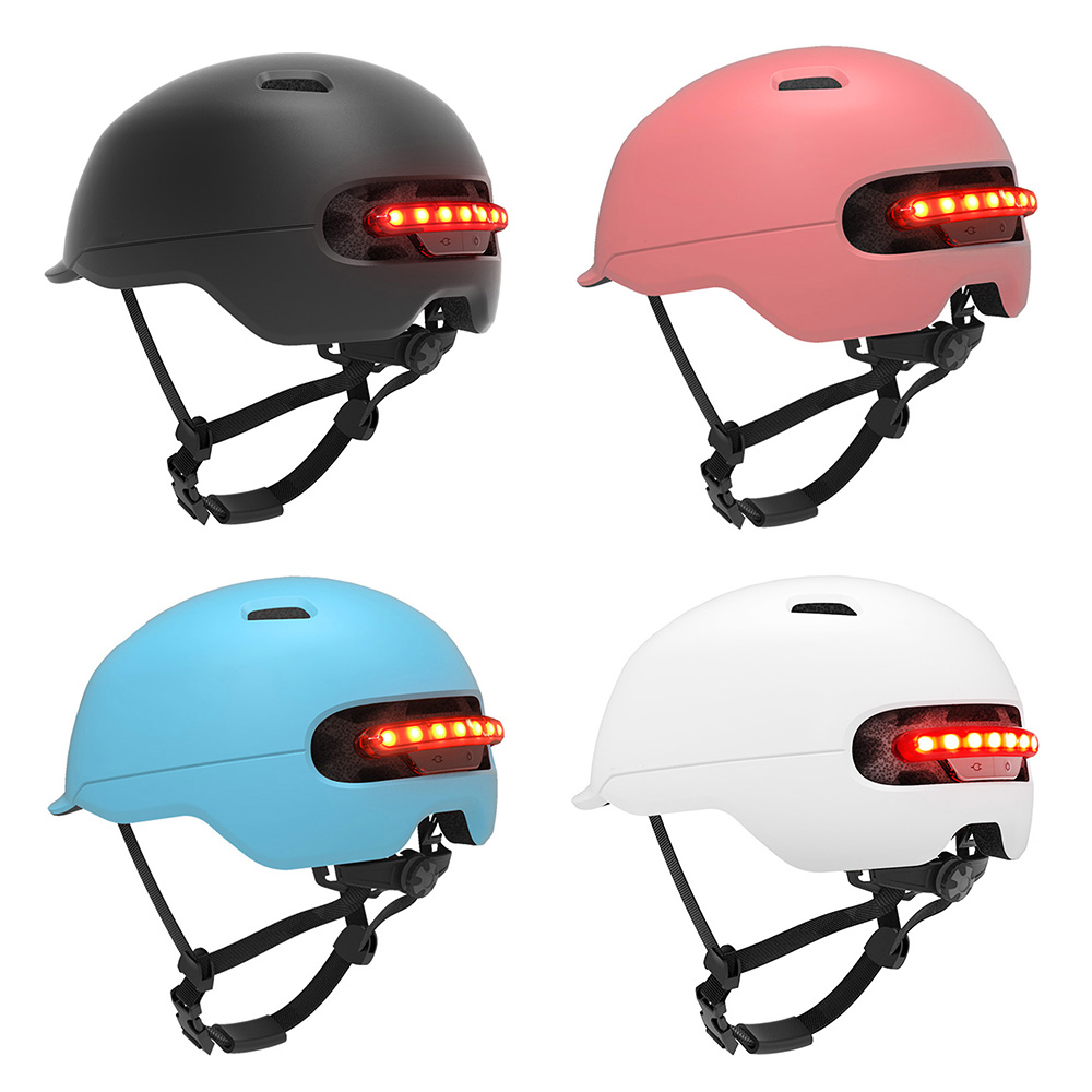 New Smart 4u Waterproof Bicycle Smart Flash Helmets Matte Long Use Helmet Back Light Mountain Road