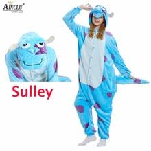 Pajama Sullivan Monster Fantasias Kigurumi Jumpsuit Animal Women Soft Adult Onesie Fancy