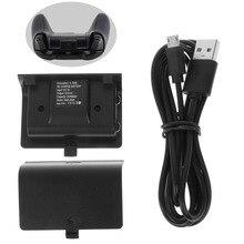 Nieuwe Ni Mh 2400Mah Charger Kit Oplaadbare Batterij + Usb Kabel Voor Xbox Een
