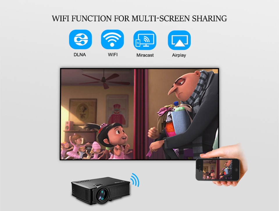 SD60 Portable LCD WIFI Projector-2