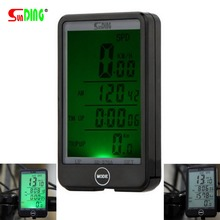 SUNDING 576A Waterproof Auto Bike Computer Light Mode Touch Wired Bicycle Computer Cycling Speedometer with LCD Backlight