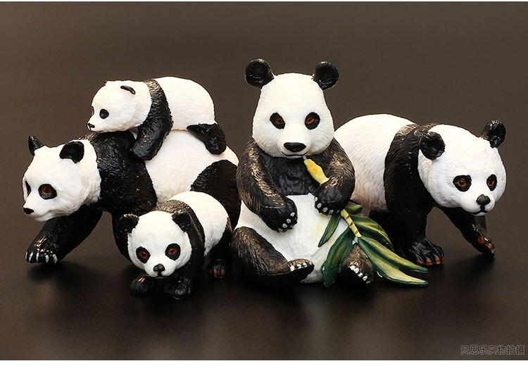 Figurine en pvc jouet Simulation cadeau modèle d'animal fantastique jouet famille panda