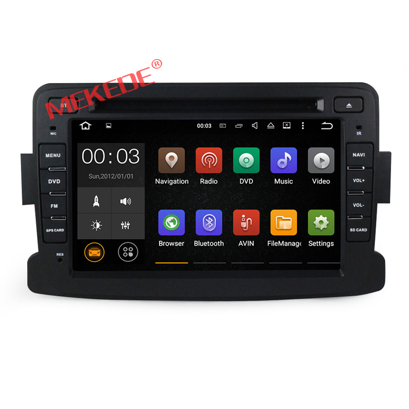 Quad Core Pure Android 7.1 Central Cassette DVD GPS Player For Dacia Renault Duster Logan Sandero stereo free shipping map gift