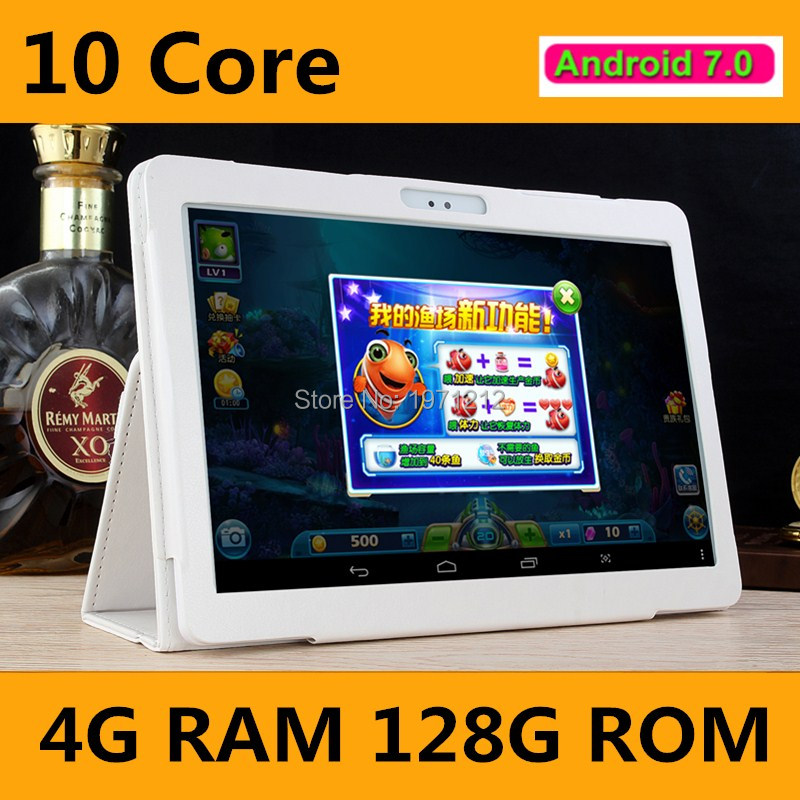 Free shipping 10.1 inch tablet pc T100 android 7.0 deca core RAM 4GB ROM 128GB 3G 4G LTE 10 core tablets Kids Gift MID 10 10.1
