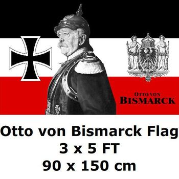 Prussia Prussian Otto von Bismarck Flag 3 x 5 FT 100D Polyester WWI Deutsch German Germany Flags and Banners For Home Decoration image