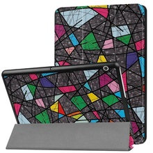 Funda case For Huawei MediaPad T3 10 AGS-L09 AGS-L03 9.6 inch Tablet for Honor Play Pad 2 9.6 Slim Flip PU Case+Film+Pen