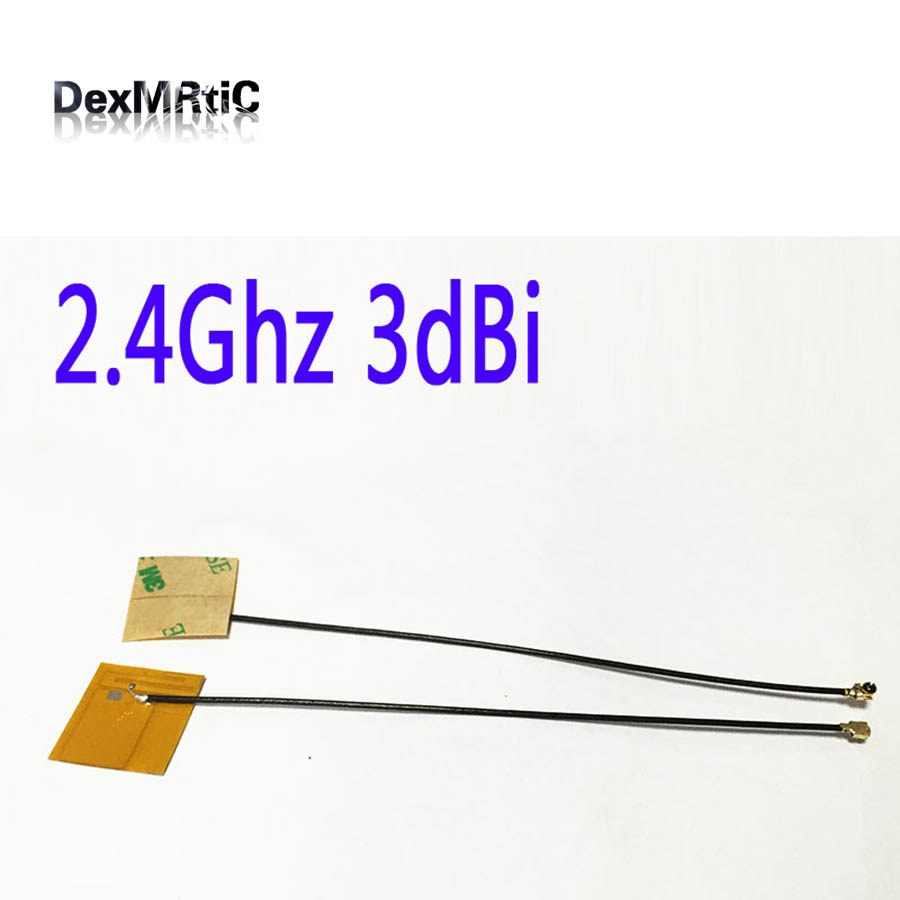 1PC 2.4Ghz 3dbi Wifi Internal Antenna Yellow Film FPC Soft PCB Aerial IPEX #2 Antenna For Mobile Phone