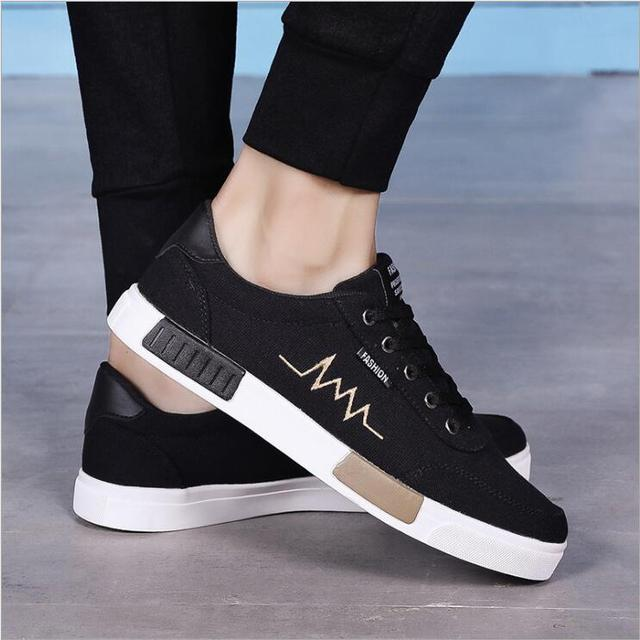 13596fa5038 Geguistle New Arrival Comfortable Casual Shoes Mens Canvas Shoes For Men  Lace-Up Brand Fashion Flat Loafers Shoe