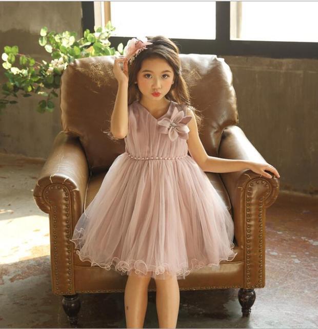 ac73670b0 2018 Baby Girls Summer Floral Mesh Dresses