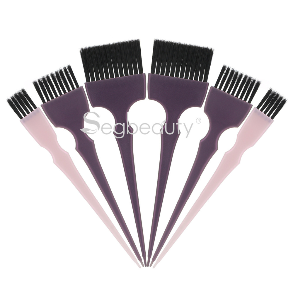 Hair Dye Brush 6pcs Hair Tint Brush Set Coloring Professional Hairdressing Tinting Bleach Styling Color Applicator Balayage