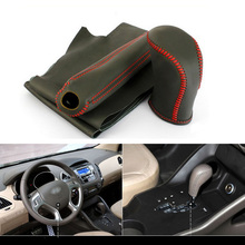 3pcs Top Cowhide Sew-on Genuine Leather Steering Wheel Cover For Hyundai ix35 AT