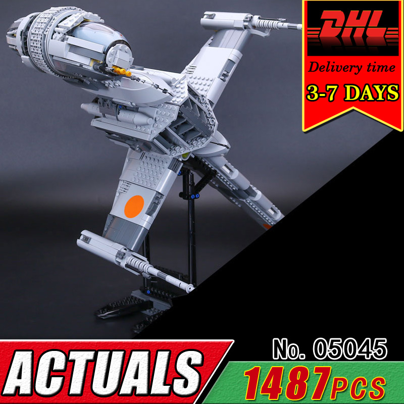 DHL LEPIN 05045 Star Series B-Fighter Wing Model Military War Building Blcoks Children Compatible 10277 Bricks Educational Gift 1710 city swat series military fighter policeman building bricks compatible lepin city toys for children
