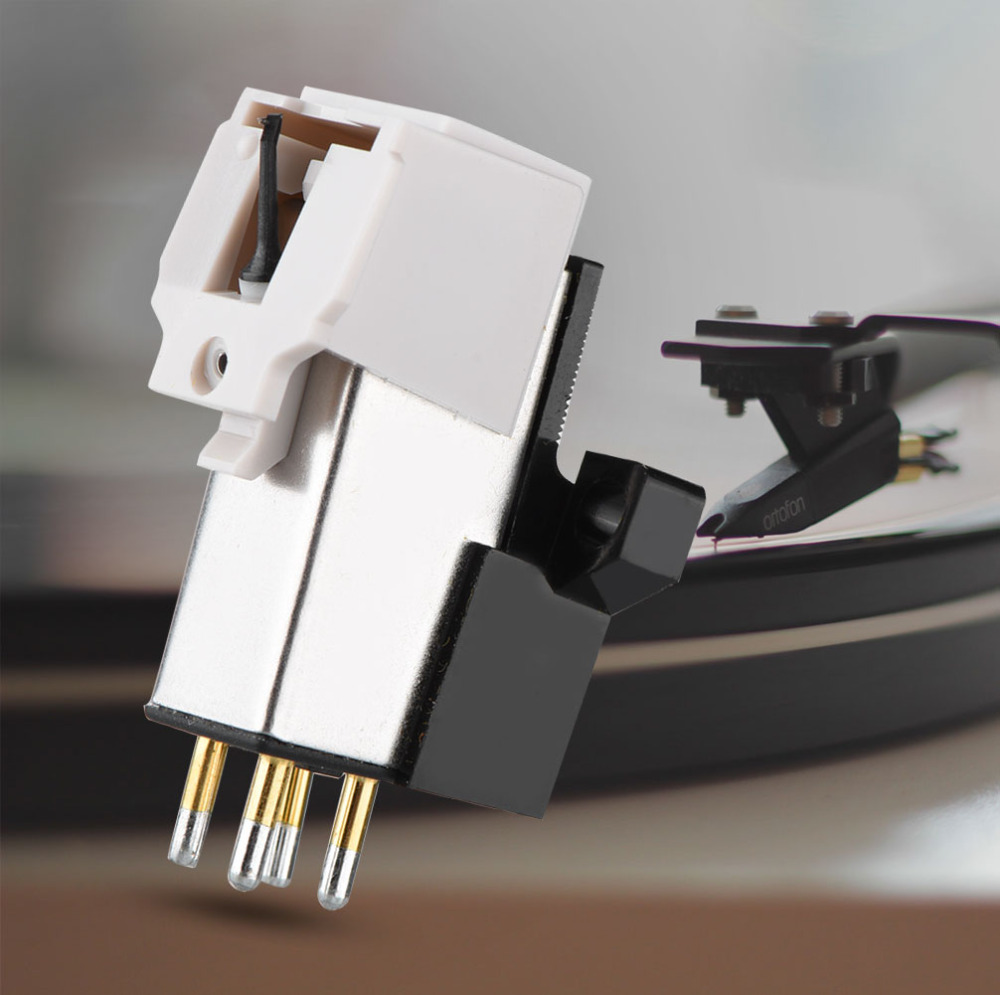 Magnetic Cartridge Stylus with LP Vinyl Needle for Turntable Record Player