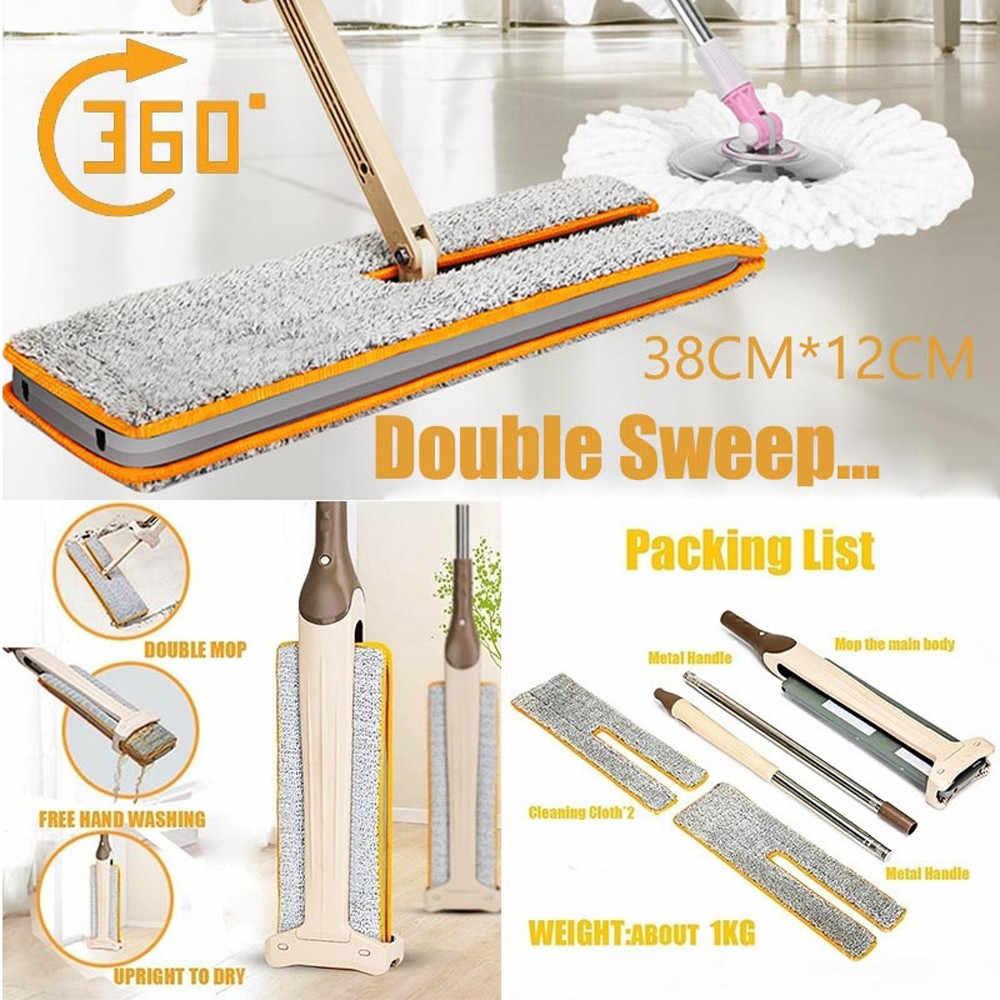 مزدوجة من جانب غير غسل اليد ممسحة ناعمة ممسحة أرضية خشبية الغبار دفع ممسحة أدوات تنظيف المنزل 2643
