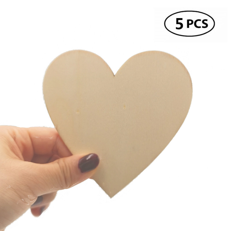 50mm Hearts Wooden Craft Shapes 3mm MDF Tags Embellishments Ply