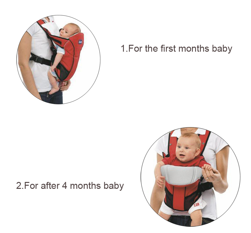 Kangaroo Baby Bag Pouch Sling Hip Ergonomic Baby Carrier 6
