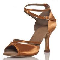 Marca Preto New Latino Sapatos de Dança de Mulheres/Meninas/Senhoras Plus Size Baixos sapatos de Salto Alto 6 cm 8 cm salão de baile de Salsa Latin Sapatos de Dança
