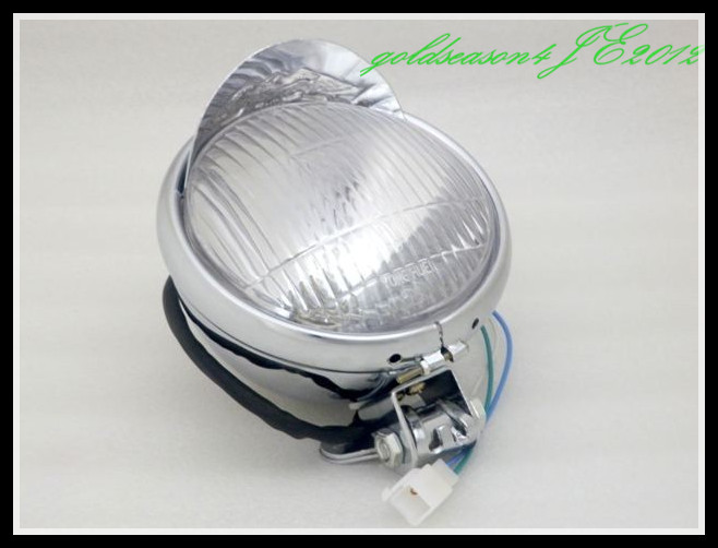Chrome 5 5inch Steel Headlight for Yamaha Vstar XV XVS Virago Chopper Cruiser