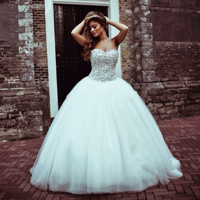 Elegant princess wedding gowns images for Bling princess wedding dresses