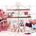 Fish bone shape earrings display shelf stud earrings stand rack jewelry necklace holder fashion pendant hanger storage frame