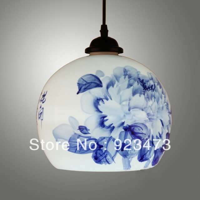 Wholesale new free shipping vintage ceramic chandeliers chinese wholesale new free shipping vintage ceramic chandeliers chinese style ceramic pendant lamp for home living room aloadofball Image collections