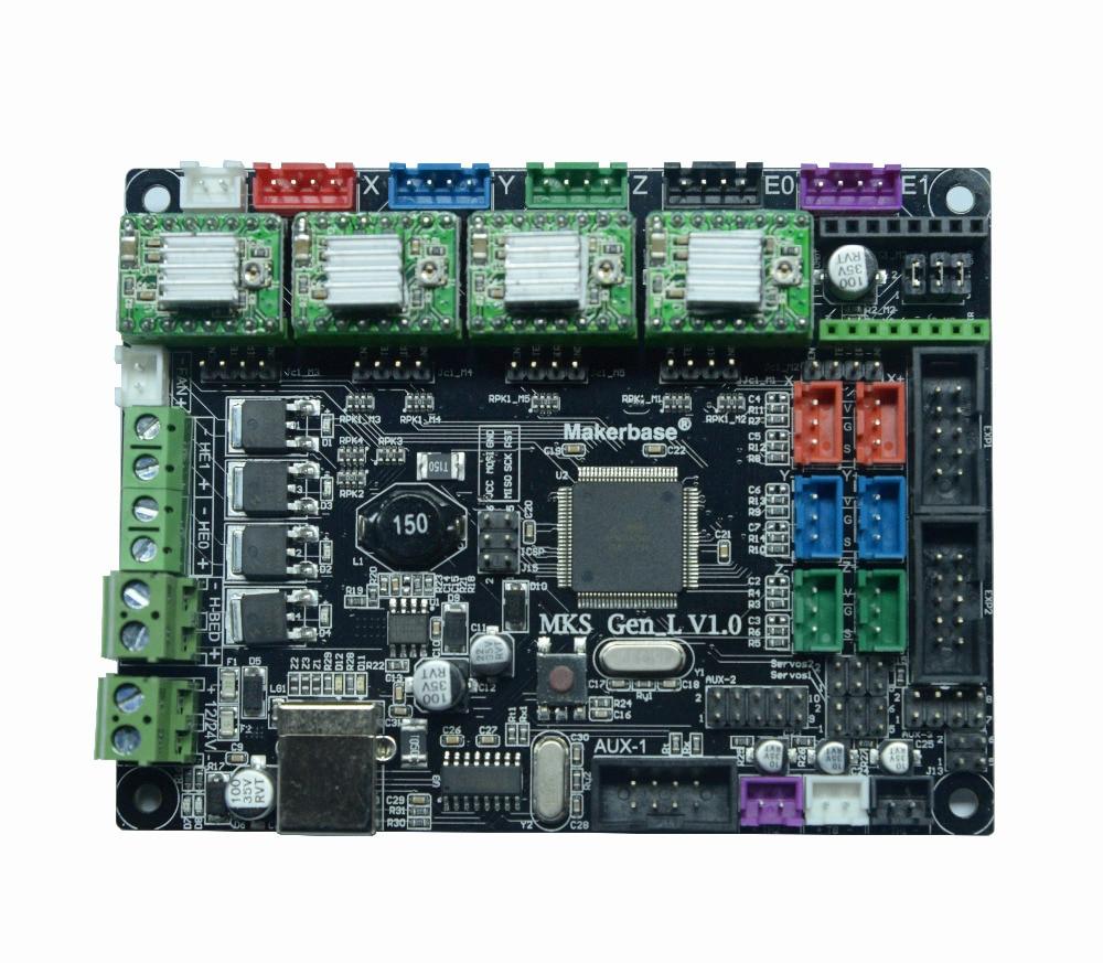 3D Printer Main Control Board MKS GEN_L V1.0 With Four DRV