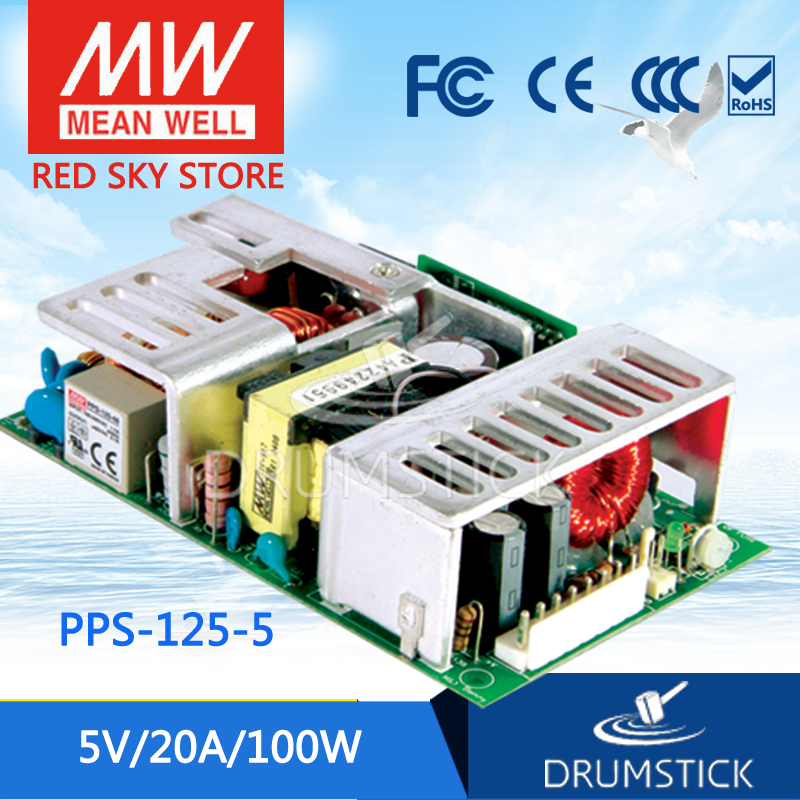 Advantages MEAN WELL PPS-125-5 5V 20A meanwell PPS-125 5V 100W Single Output with PFC Function 5 125