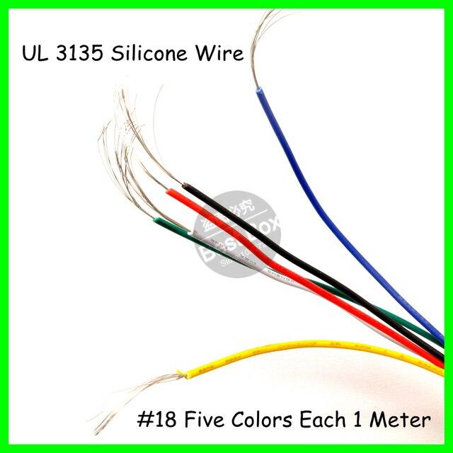 3135 18AWG 1 Mt Jede Farbe Silikon drahtleiter bau hochtemperatur ...