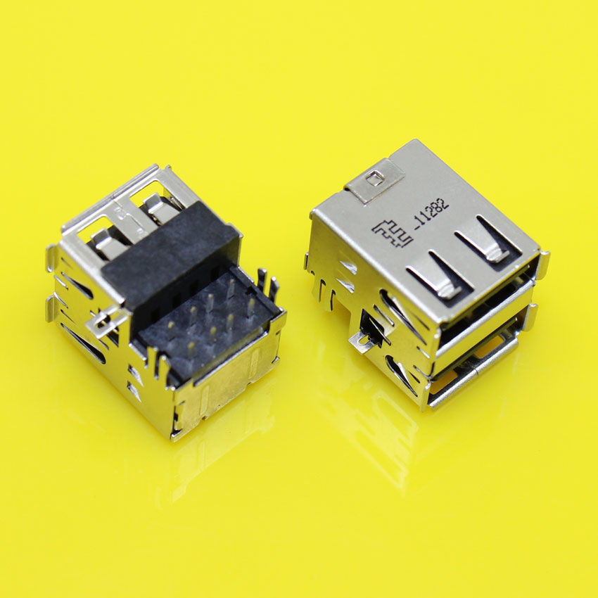 US-196 2.0 Double USB Jack Connector for Acer Aspire 3050 5050 5070 3680 3260 5570 5580 5583 USB Board etc Laptop USB2.0 Port