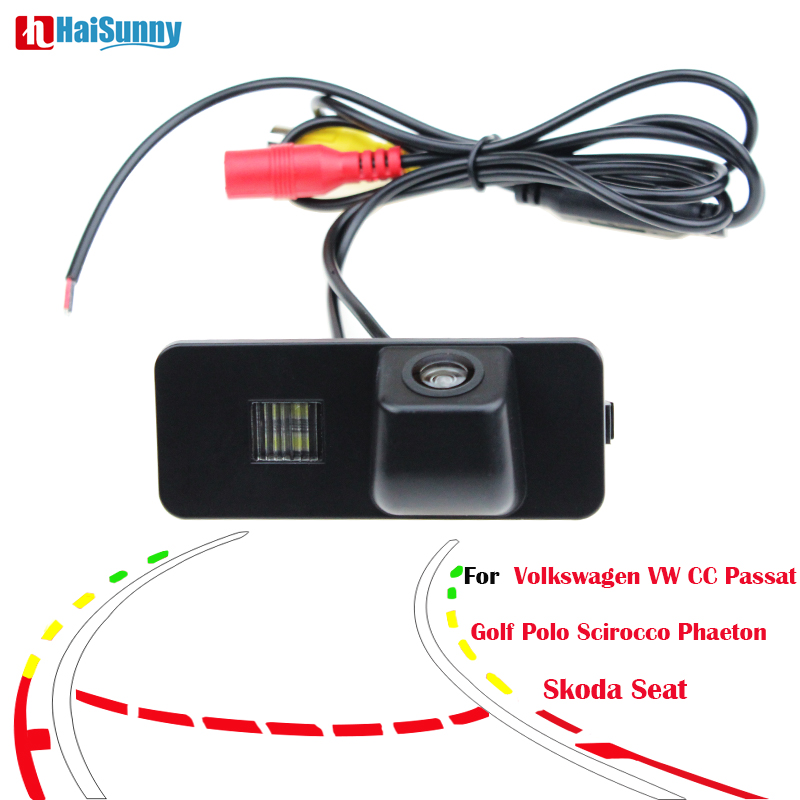 Reversing Trajectory Tracks Camera For Volkswagen VW CC Passat Golf Polo Scirocco Phaeton Backup CCD Reverse HD Parking Camera
