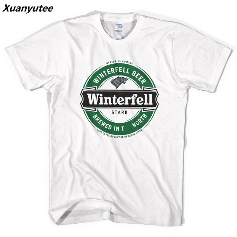 a788f781 Xuanyutee Game Of Thrones New Style Tshirt Homme Fashion Short Sleeve Print  Winterfell Stark Winter Is