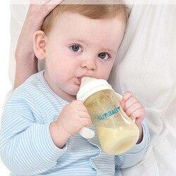 Anti-cólicas bpa livre garrafa de polipropileno natural 300ml mamadeiras infantil suco de leite garrafa de alimentação de água garrafa enfermagem