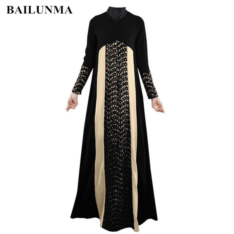 2019 Fashion Hollow Out Islamic Clothing Hijab Black Abaya Dress Arab Womens Clothing Malaysia Dubai Abaya Dress B8020