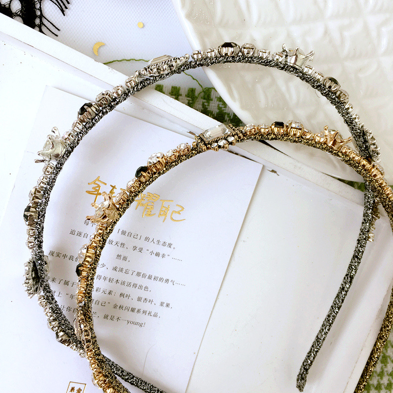 Women Hair Hoops Rhinestone Peal Headband Rhinestone Princess Hairband Girls Dance Party Sexy Boutique Hair Accessories in Women 39 s Hair Accessories from Apparel Accessories