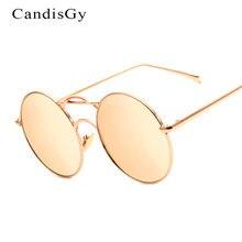 Nueva Ronda de Moda Únicas gafas de Sol de Espejo Mujeres Hombres Diseñador de la Marca Señora de la Mujer gafas de Sol UV400 Marco Del Metal