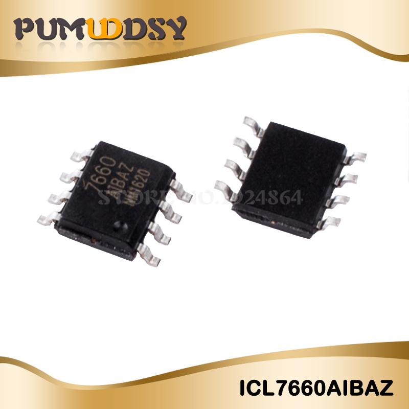 10pcs/lot Free Shipping ICL7660AIBAZ ICL7660 7660 SOP8 IC Best Quality