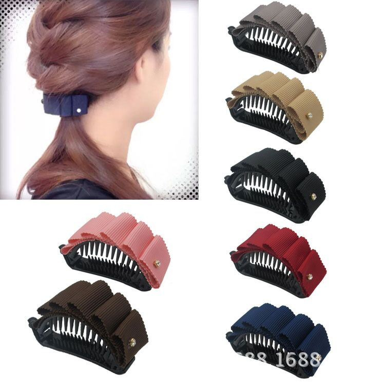 2019 girl hair accessories banana clip hedgehog lace curved semi dot point drill fabric multicolor ribbing ribbon in Women 39 s Hair Accessories from Apparel Accessories