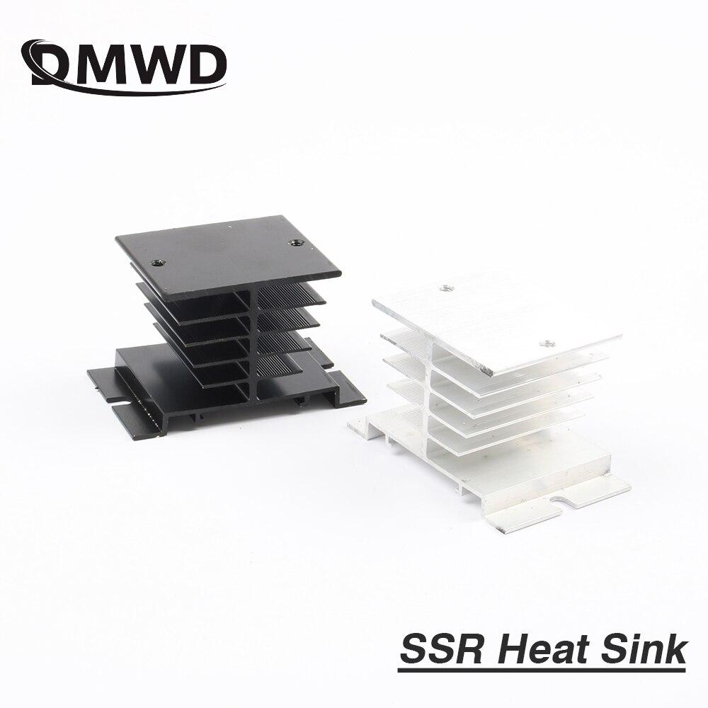 1pcs Free shipping SSR soild state relay radiator radiator fin other spare parts mini Heat Sink Black gray grey цены