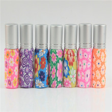 30pcs/lot 6ml And 10ml Colorful Polymer Clay Perfume Bottle Atomizer 6ml And 10ml Empty Make Cosmetic Container For Wedding Gift