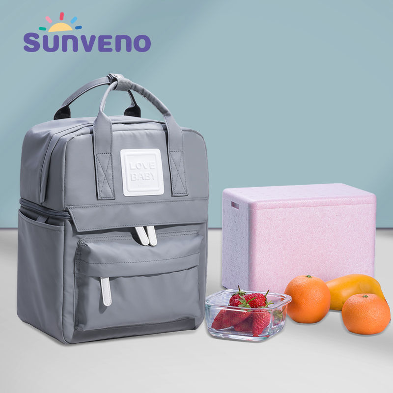 SUNVENO Insulation Bag Milk Food Storage Thermal Bag Warmer Box Baby Feeding Bottle Thermal Backpack for