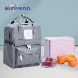 SUNVENO изоляционная сумка для хранения молока и продуктов питания, Термосумка, теплая коробка, бутылка для кормления ребенка, терморюкзак для ...