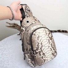 Змеиный узор, натуральная кожа питона, Мужская маленькая нагрудная сумка, экзотическая змеиная кожа, унисекс стиль, сумка через плечо, сумка-мессенджер