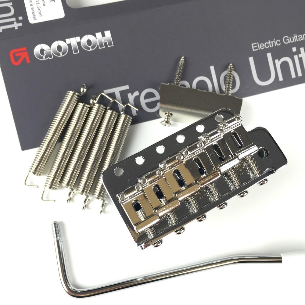 Genuine Original GOTOH GE101T Vintage Style Electric Guitar Tremolo System Bridge Silver Chrome