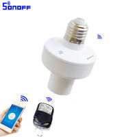 sonoff slampher wireless smart remote control switch E27 433MHz RF Light Holder