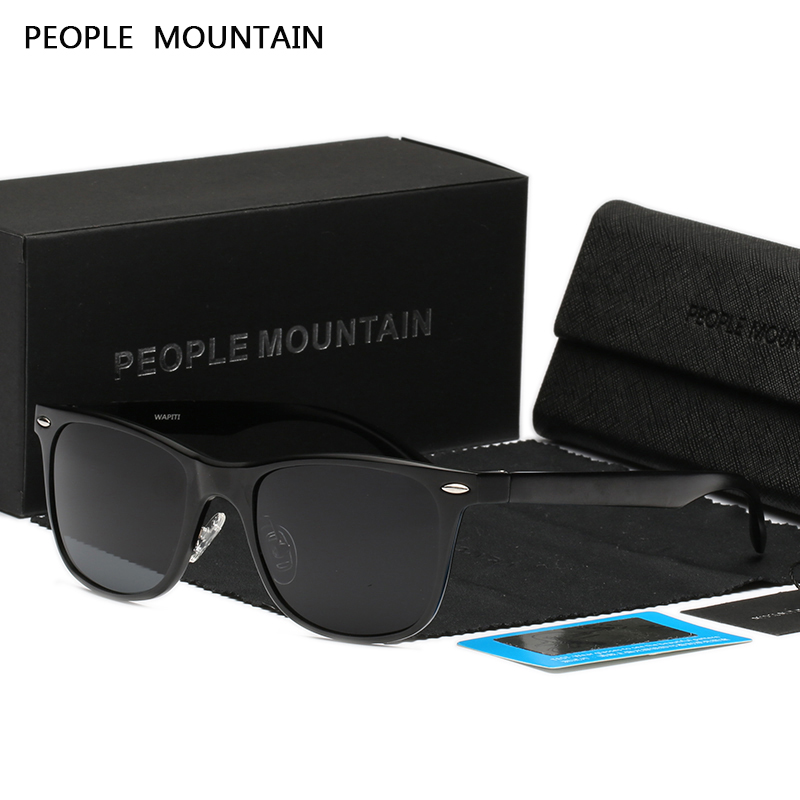 People Mountain High Quality Polarized Sunglasses Men Women Aluminum Magnesium Frame Mirror Gafas Unisex Driving Oculos De Sol
