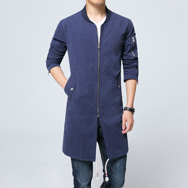 Fashion youth cotton long casual windbreaker Loose plus size   trench   coat Photographer jacket Business man windproof jacket
