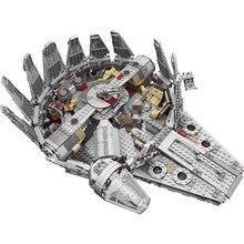 Force Awakens Star Set войны серии Совместимость LegoINGLYS 79211 Сокол Тысячелетия цифры модель здания Конструкторы игрушечные лошадки для детей