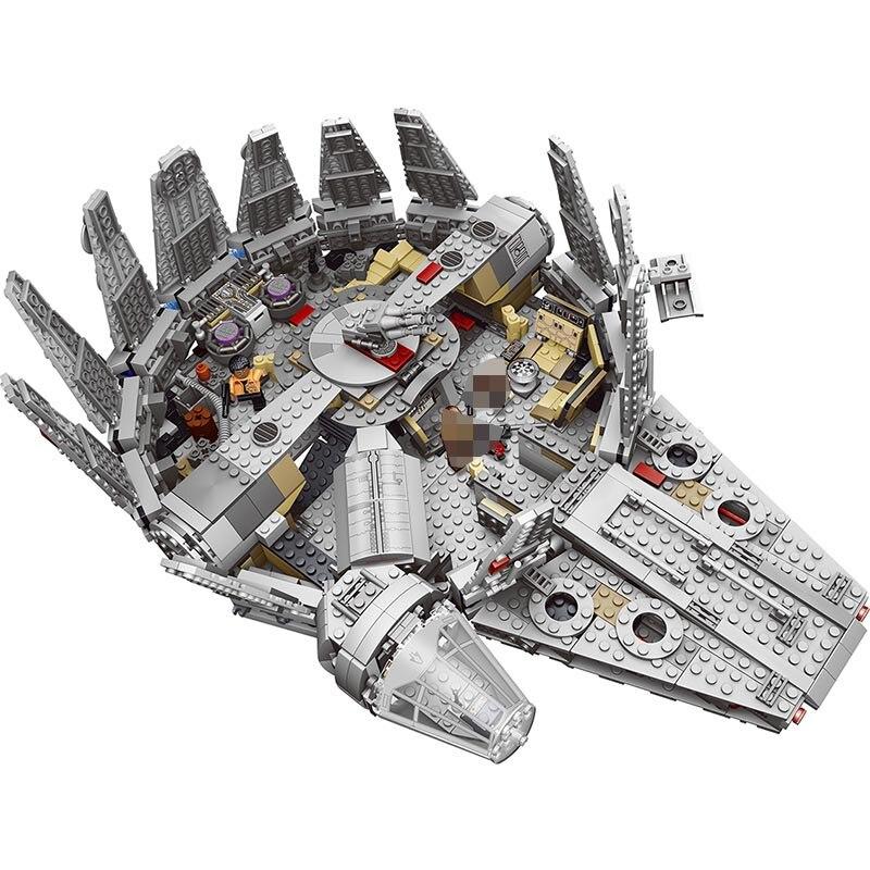 Jeu d'étoiles de réveil de Force série Wars Compatible LegoINGLYS 79211 figurines de faucon du millénaire modèle blocs de construction jouets pour enfants
